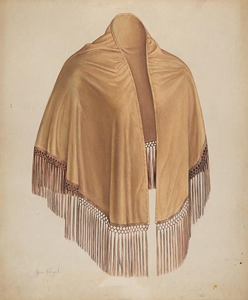 Lo scialle delle venete -  Scialle Antico in seta