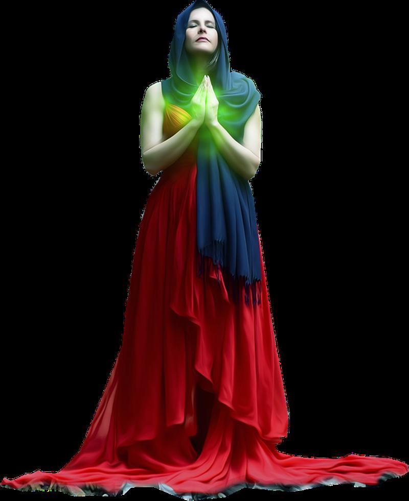 Reitia - Dea Con Velo che evoca la luce