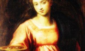Santa Lucia - La Santa in un dipinto