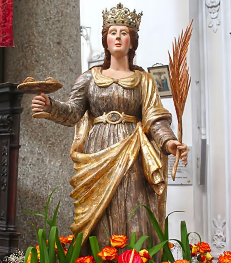 Santa Lucia - statua di Santa Lucia