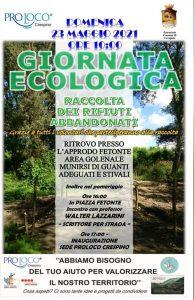 Giornata ecologica a Crespino - Locandina Raccolta per giornata ecologica
