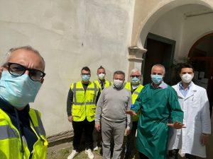 Vaccinazioni a Crespino - il gruppo di volontari