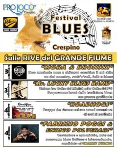 Festival blues a Crespino - Blues e locandina dell'evento a Crespino