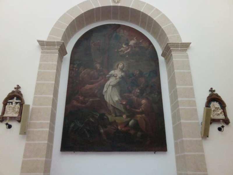 Il quadro conservato nella chiesa dell'Angelo