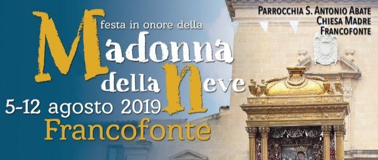Madonna Della Neve Festa Logo