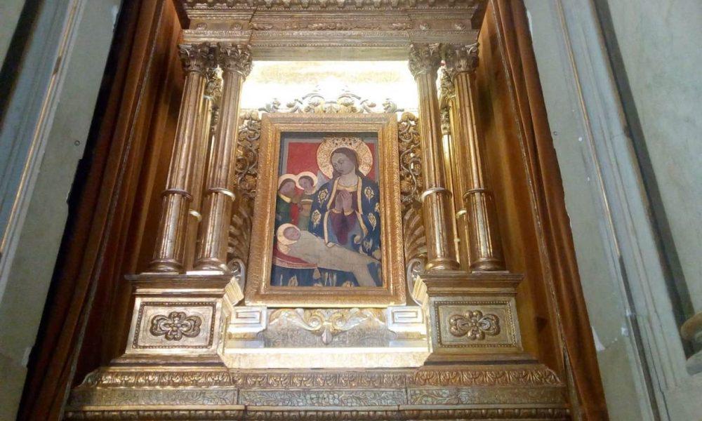 Madonna Della Neve Esposta In Chiesa Madre