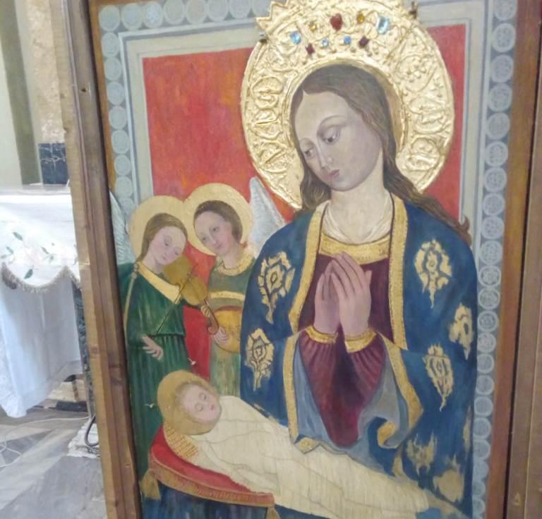 Madonna Della Neve Esposta Icona