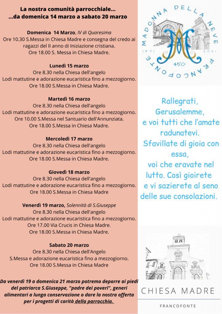 San Giuseppe Calendario Chiesa Madre