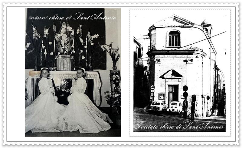 chiesa demolita di Sant'Antonio di Frosinone- collage