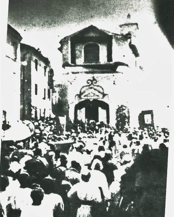 chiesa demolita di Sant'Antonio di Frosinone- antica foto