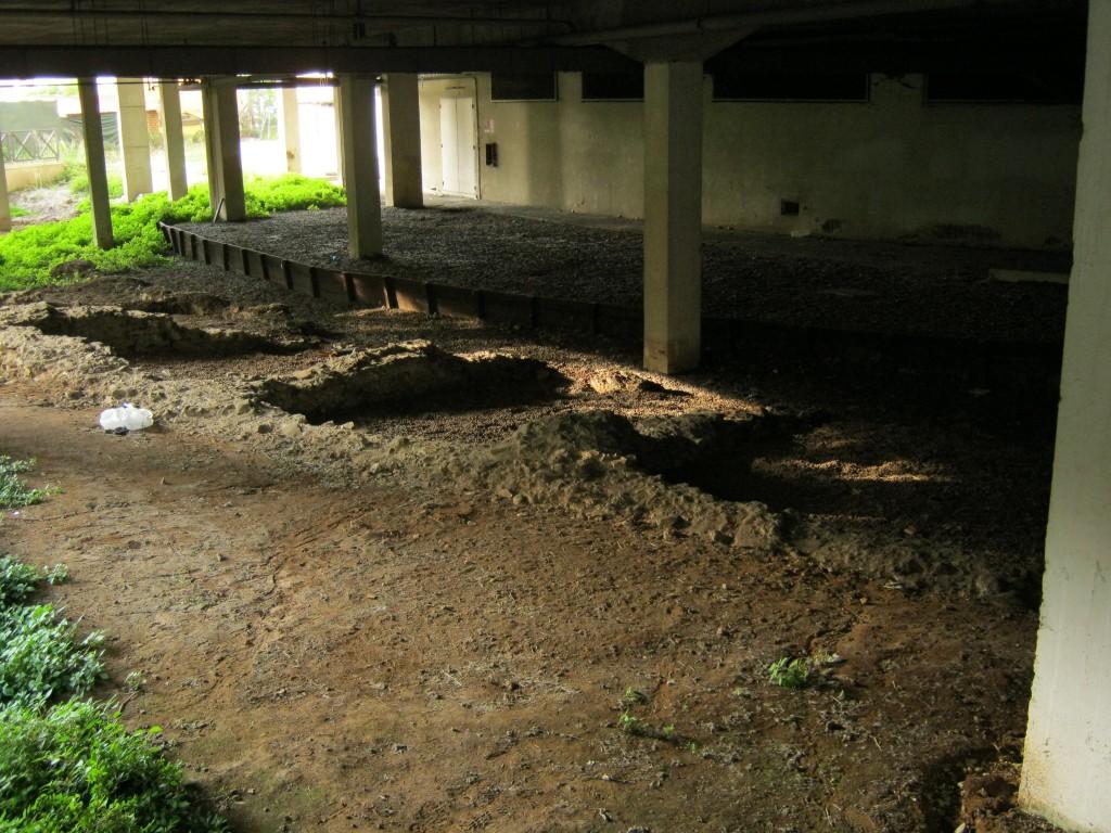 L'anfiteatro di Frosinone- sotto il palazzo