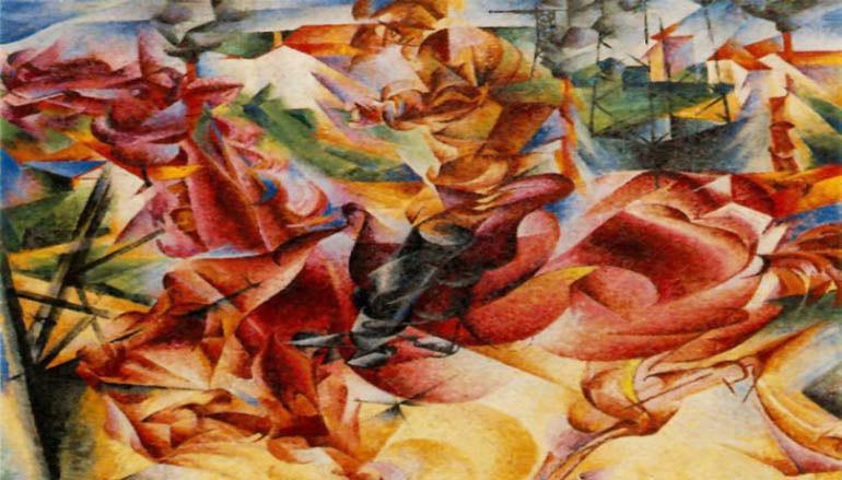 anton giulio Bragaglia - quadro futurista
