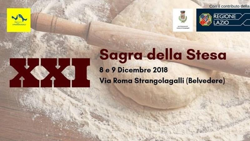 venti a Frosinone per l'otto dicembre -sagra della stesa