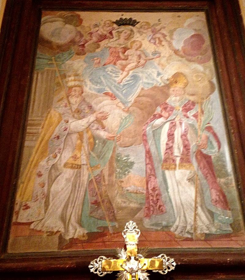 Chiesa Madonna Della Delibera - affresco nella chiesa