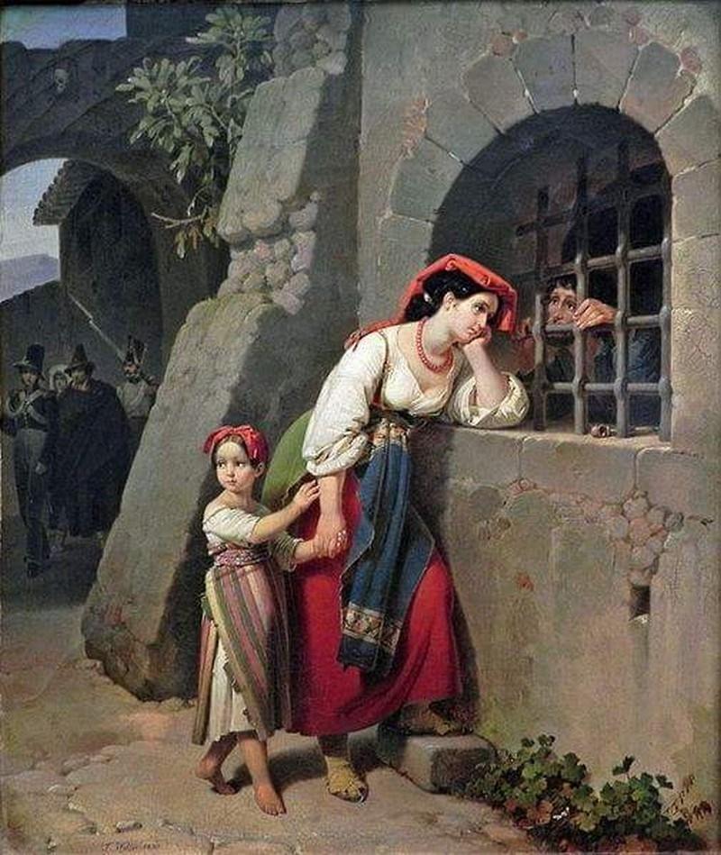 Costume Ciociaro - ciociara con bambina per mano