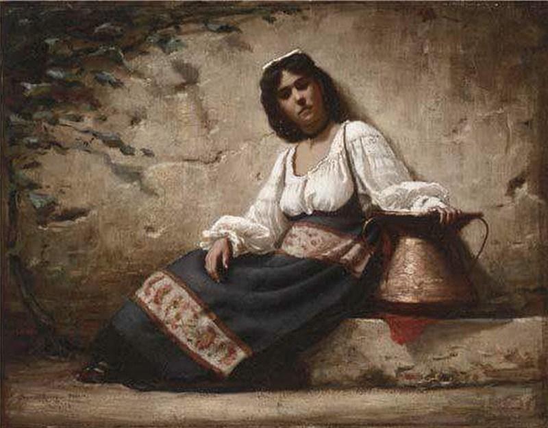 Costume Ciociaro - ciociara con il tipico concone