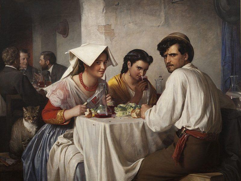 Costume Ciociaro- ciociari ad una taverna