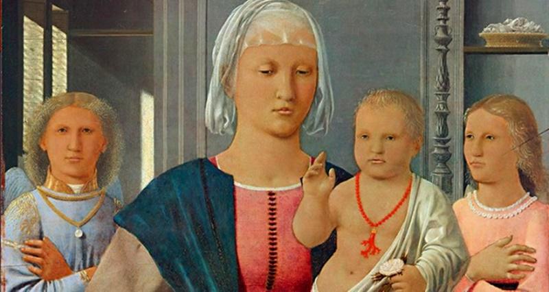 I Coralli Delle Ciociare- dipinto di Gesù bambino con rametto di corallo al collo