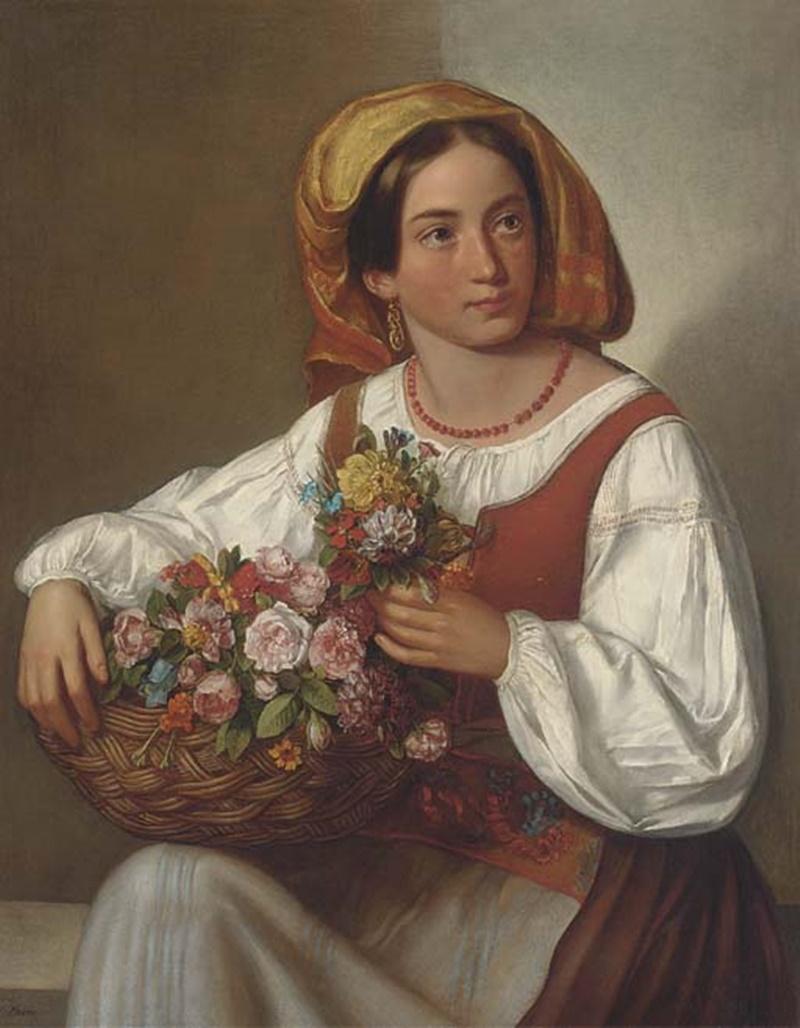 I Coralli Delle Ciociare- ciociara con cesta di fiori