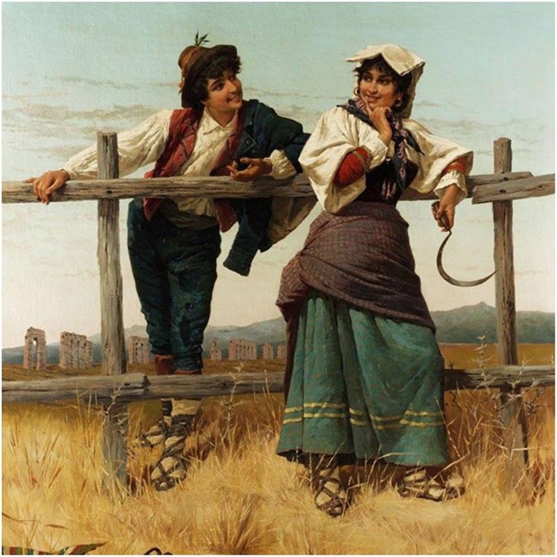 San Valentino in Ciociaria - corteggiamento in campagna durante la mietitura