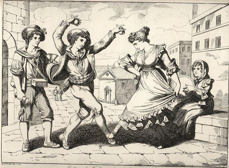San Valentino In Ciociaria - stampa antica di danze popolari