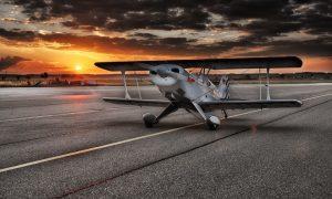 Aeroporto di Frosinone - foto di un bimotore