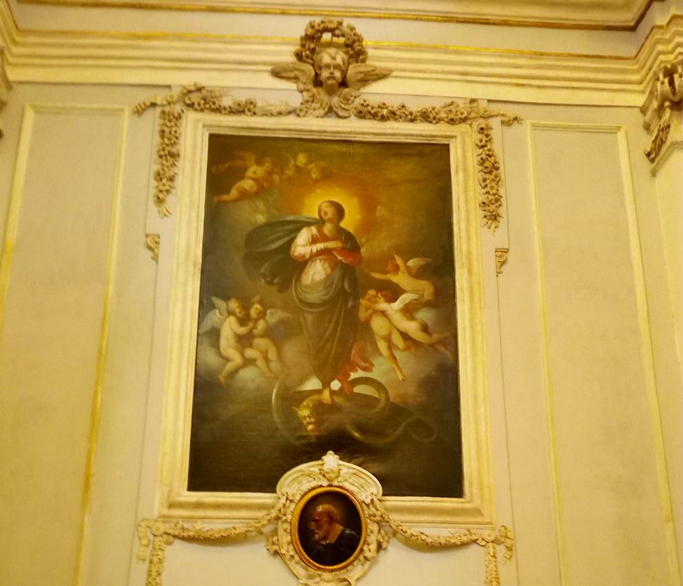 La madonna del buon consiglio - Quadro Della Santa Vergine presente nella chiesa