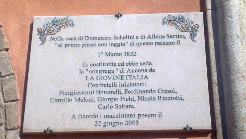 Nicola Ricciotti - immagine di targa commemorativa