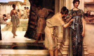 le terme di Supino - Terme Romane in un dipinto