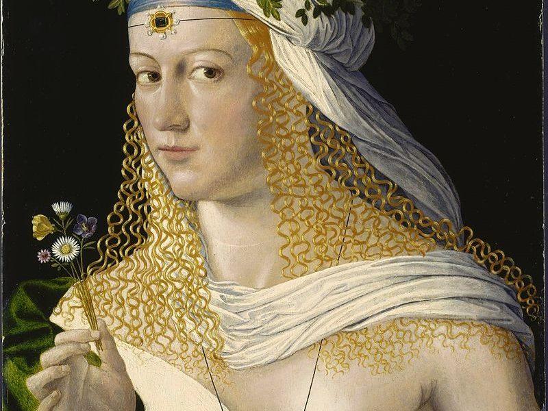 Lucrezia Borgia -la Figlia Del Papa in una allegoria