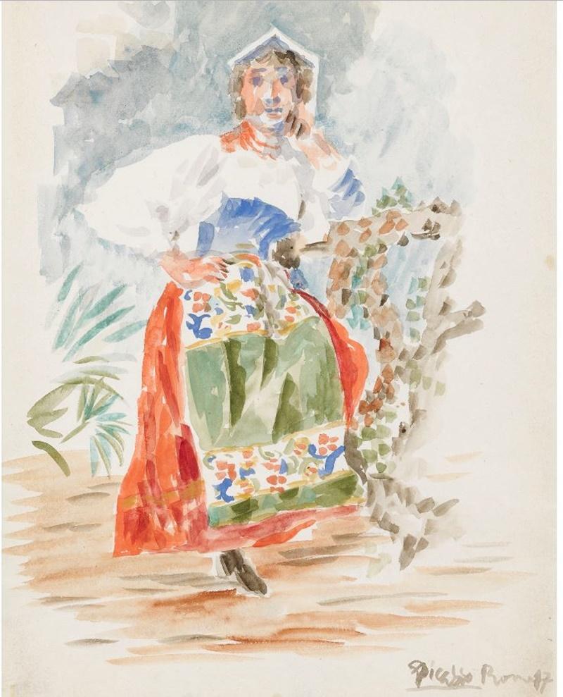 La Italienne di Picasso - dipinto dell'autore