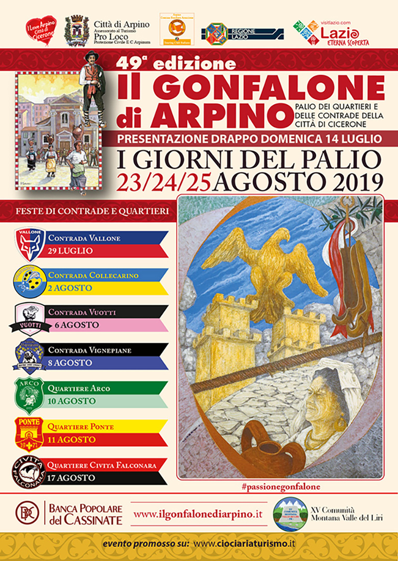 Gonfalone Arpino Feste Di Contrada