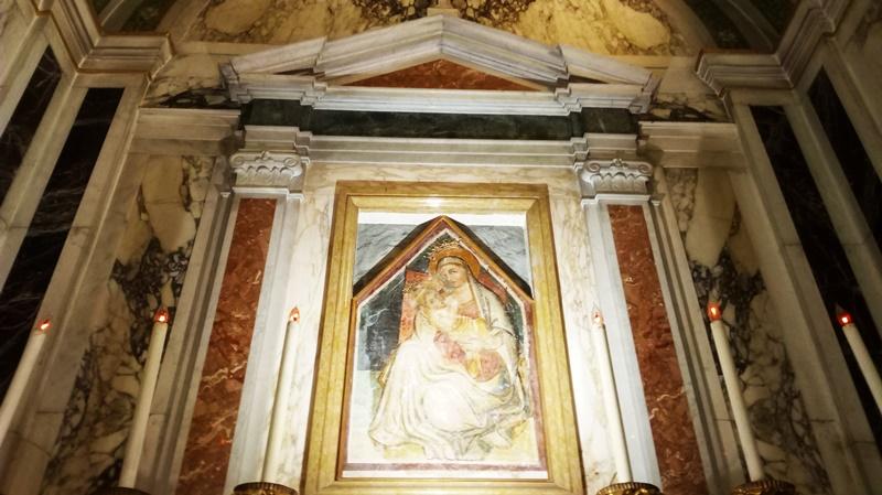 la chiesa -dettaglio del dipinto