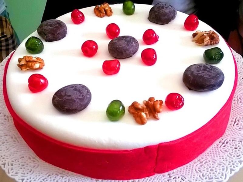 la torta degli antichi romani - una cassata di pasticceria