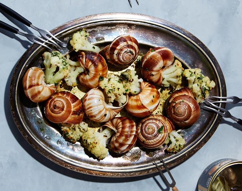 cucinare le lumache - Piatto Di Chioccioline