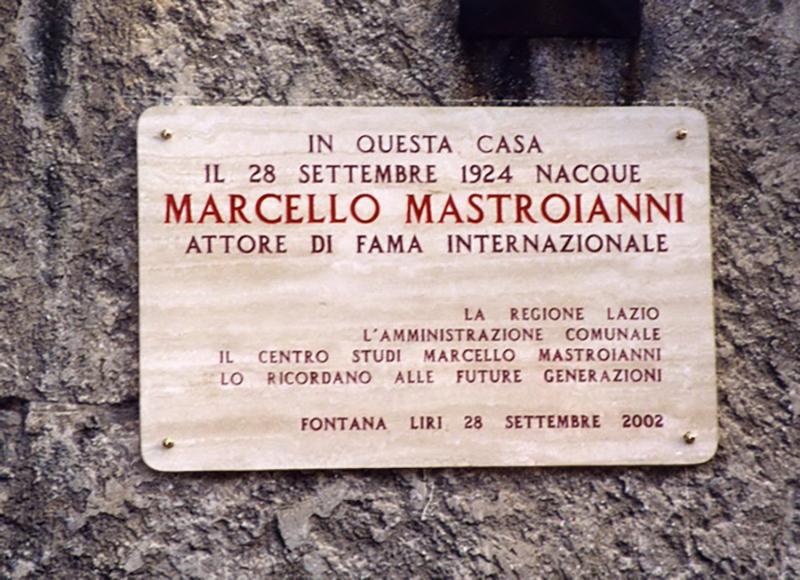 Targa Casa Mastroianni