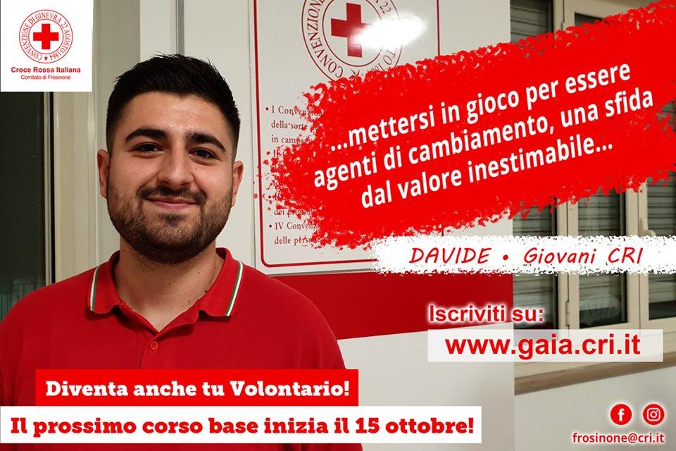 volontari per la croce rossa - Davide un volontario