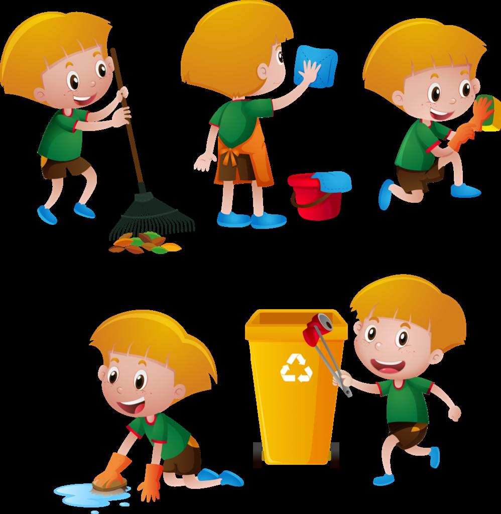 rifiuti ingombranti a Frosinone - bambini che puliscono Bimbi