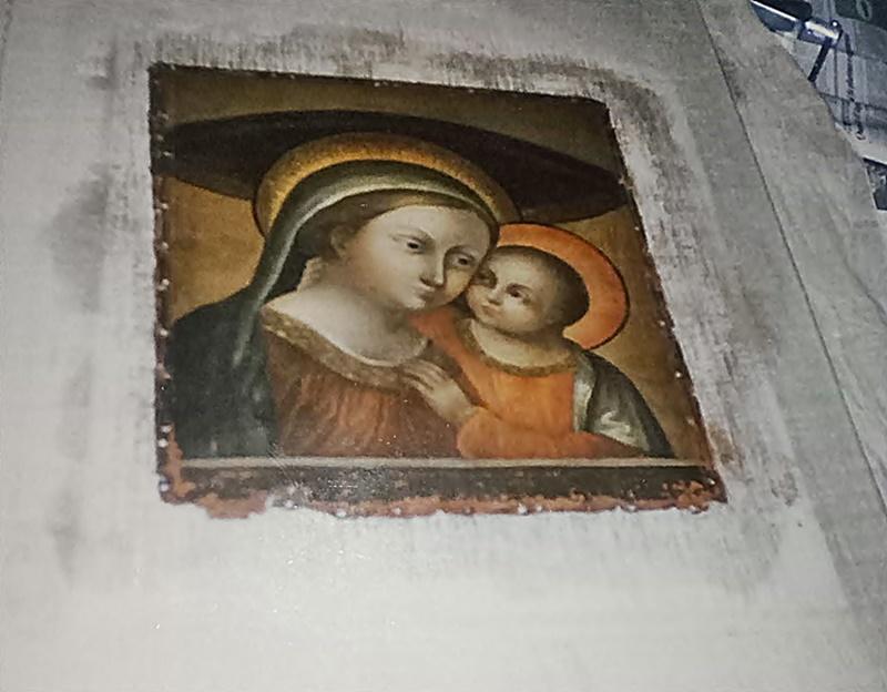 madonna del buon consiglio - il quadro dopo il restauro