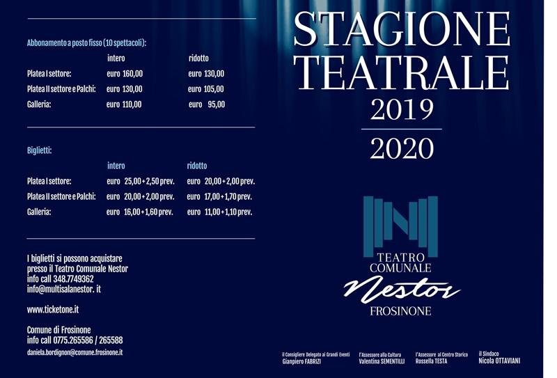 Teatro a Frosinone - Locandina delle rappresentazioni a Frosinone