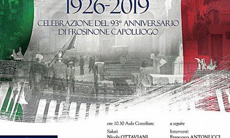 Frosinone capoluogo - Bandiera italiana sullo sfondo