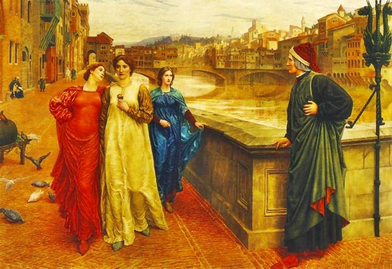 i fidanzati ciociari - Dante E Beatrice nel dipinto