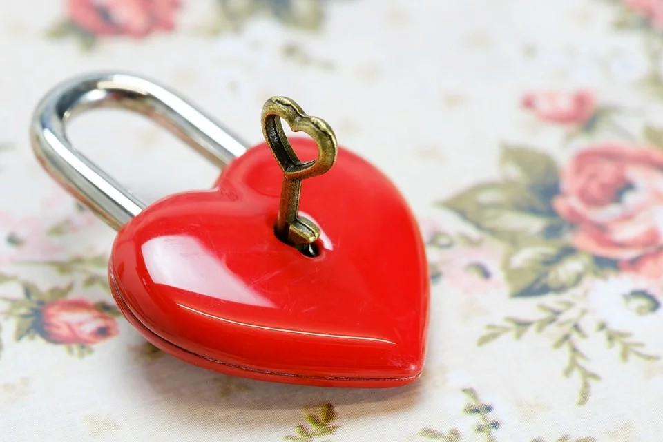 ponte milvio - Lucchetto a forma di cuore