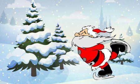 Befana a Frosinone - Babbo Natale pattina