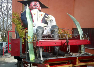 carnevale di Frosinone - il carretto con la radeca
