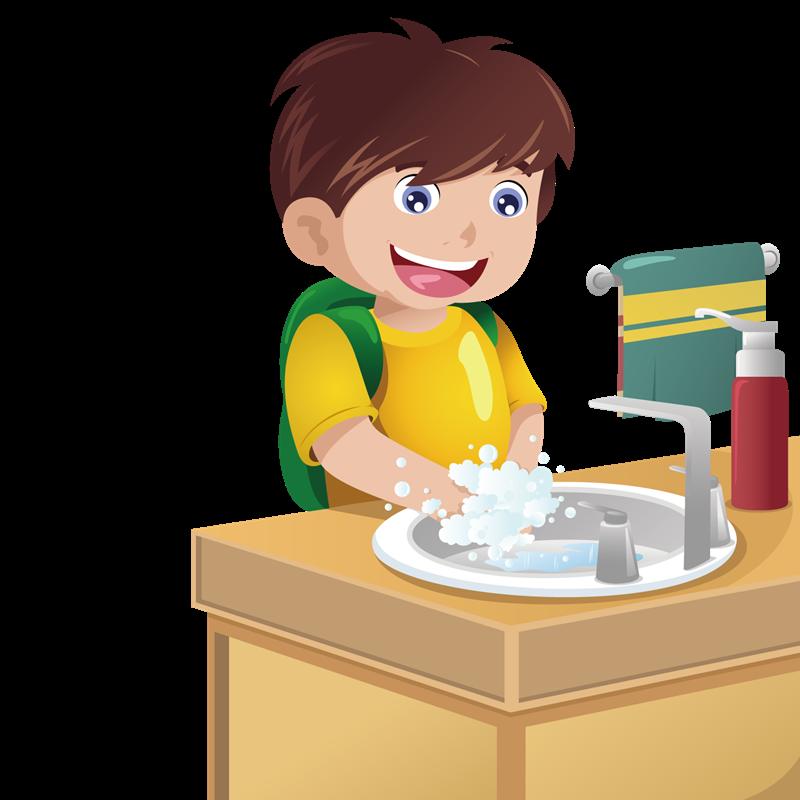 Disinfettante fatto in casa - Bambino che lava nel lavabo