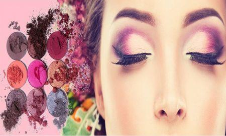 truccare bene gli occhi - Ragazza Fiori Rosa Trucco Glamour