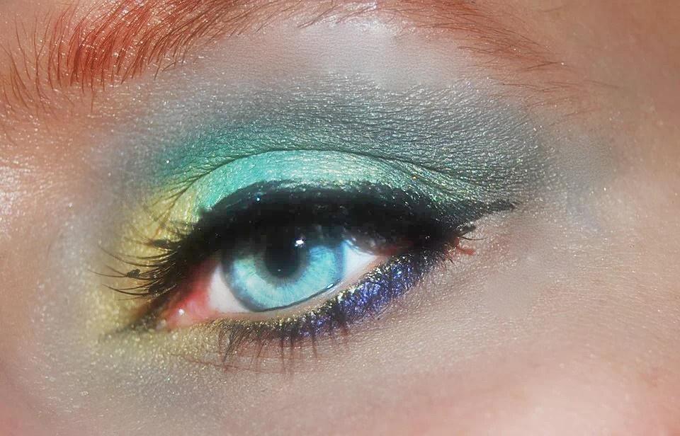 truccare bene gli occhi - Trucco su occhi celesti