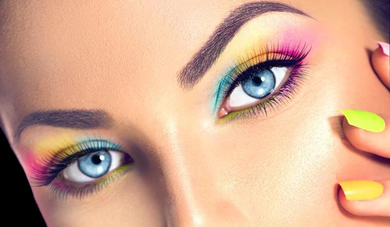 truccare bene gli occhi - Colori Fluo