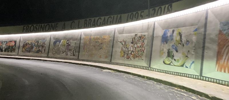 Frosinone miglior capoluogo - murales